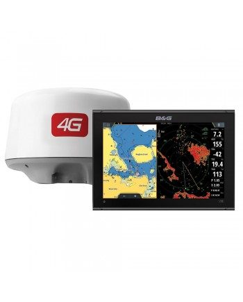 B&G Vulcan 12 Chartplotter/Fishfinder Display W/4g Radar Bundle
