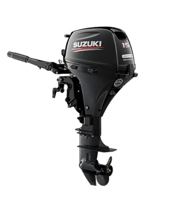 "Suzuki 15 HP DF15AES2 Outboard Motor 15"" Shaft Length"