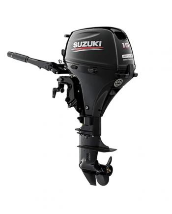 "Suzuki 15 HP DF15AES2 Outboard Motor 15"" Shaft Length"