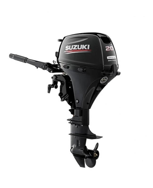 "Suzuki 20 HP DF20AES2 Outboard Motor 15"" Shaft Length"