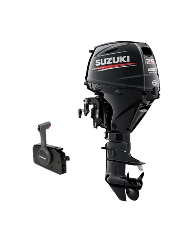 "Suzuki 25 HP DF25ATL2 Outboard Motor 20"" Shaft Length"