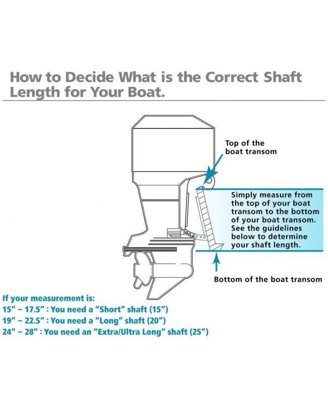 "Suzuki 4 HP DF4AS2 Outboard Motor 15"" Shaft Length"