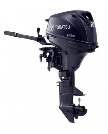 "2020 Tohatsu 20 HP MFS20EEFTL Outboard Motor 20"" Shaft Length"
