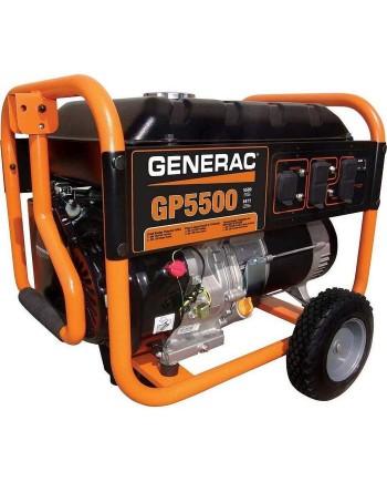 Generac GP5500 389cc 5,500-Watt 120/240-Volt Recoil Start Portable Generator - 5939